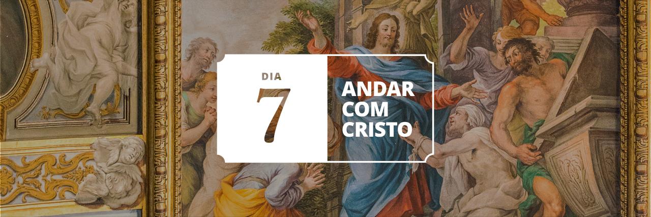 Pintura de Jesus na casa de Lázaro