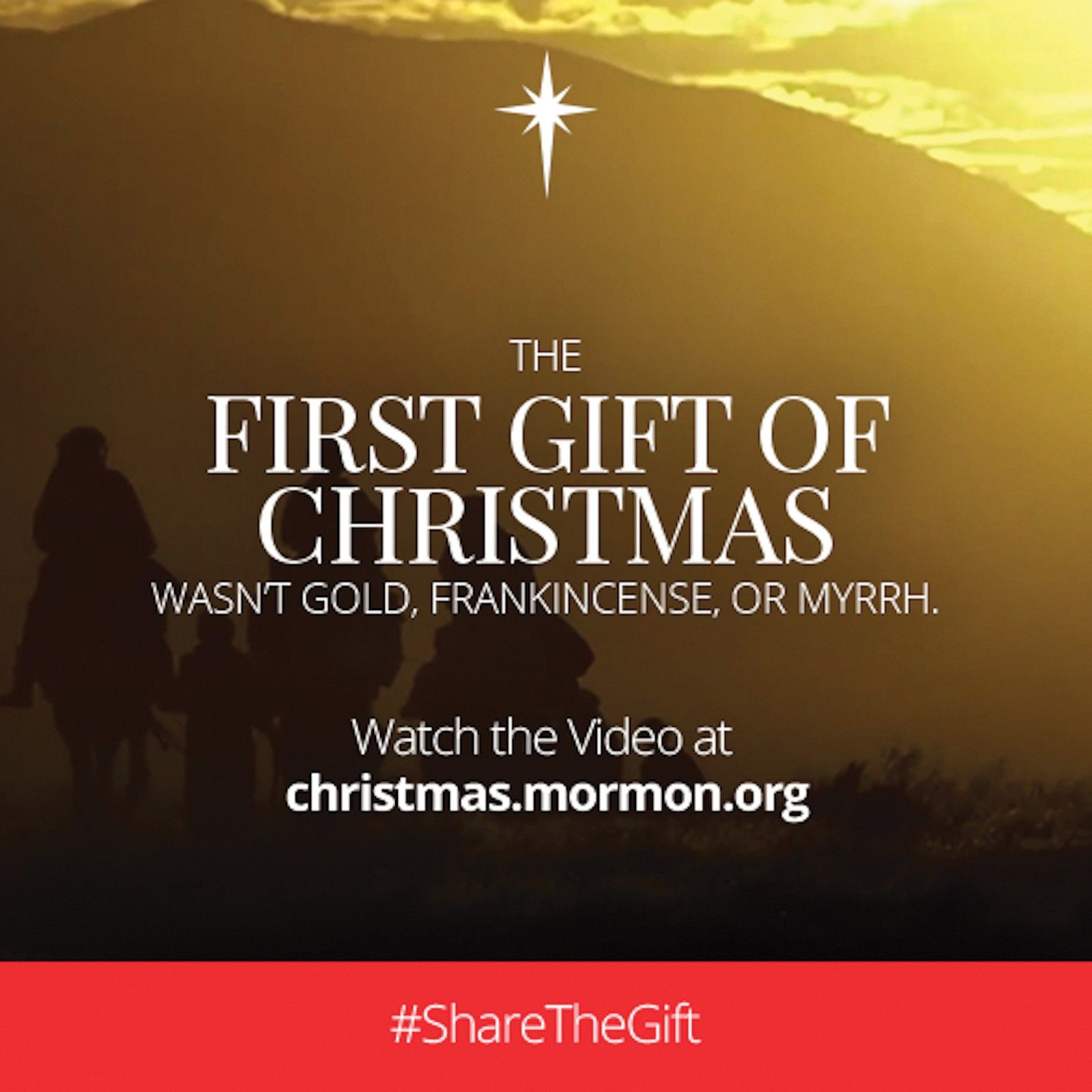 The first gift of Christmas wasn't gold, frankincense, or myrrh. Watch the video at christmas.mormon.org. #ShareTheGift