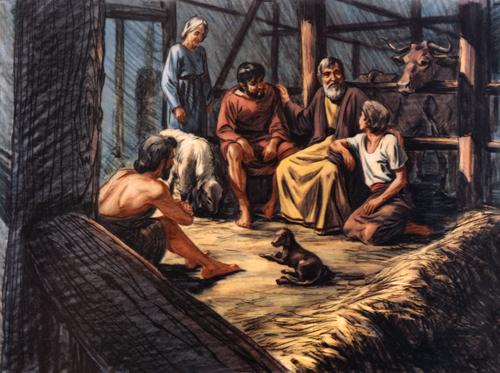 Noah inside ark