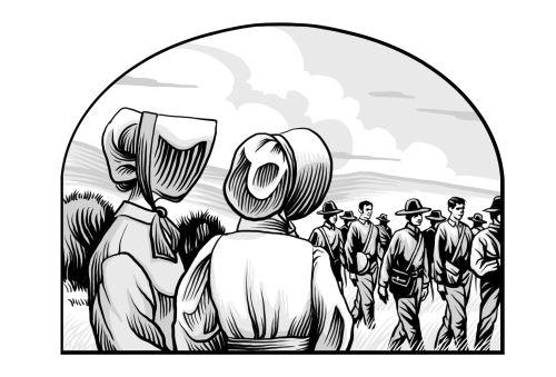 Saints V2 illustration - Mormon Battalion