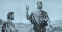 John the Baptist Preaching in the Wilderness