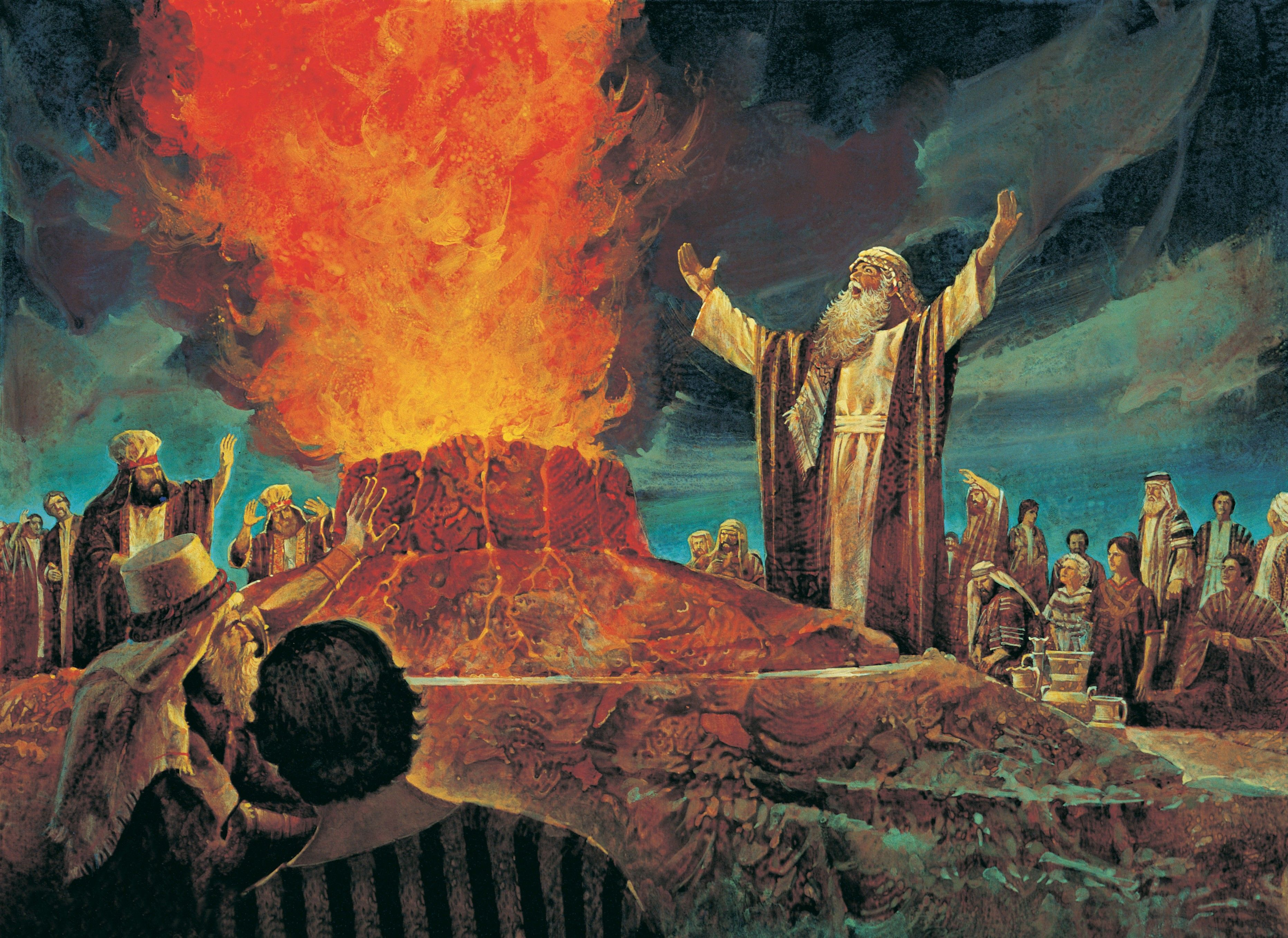 Elijah Contends against the Priests of Baal, by Jerry Harston; GAB 20; Primary manual 6-41; 1 Kings 18:17–39