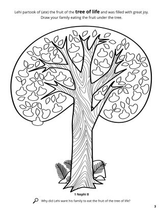 The Tree of Life coloring page
