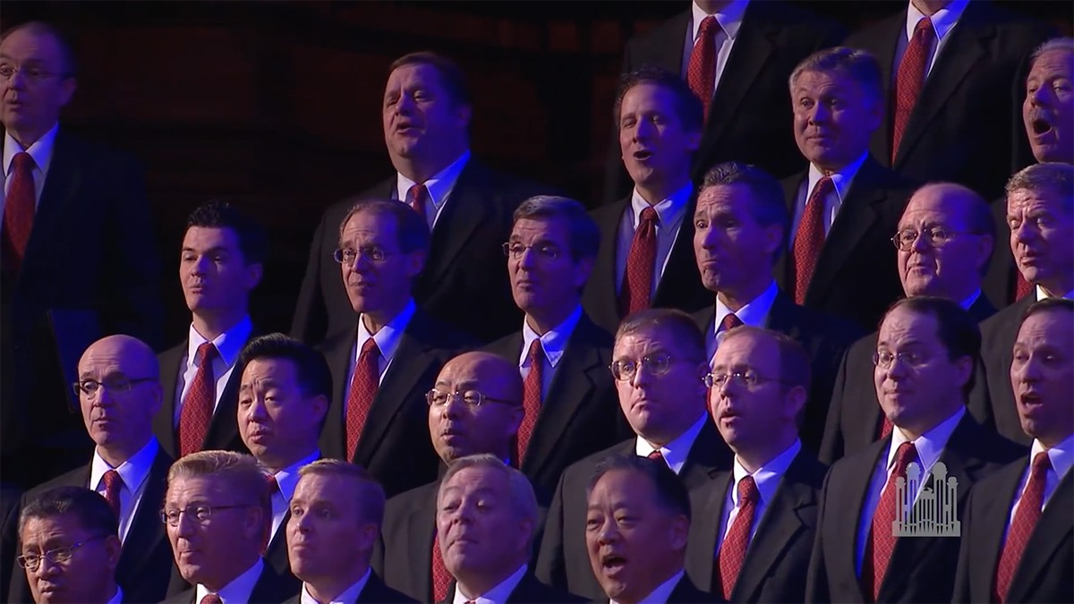 """The men of the Tabernacle Choir with the Orchestra at Temple Square perform """"You Raise Me Up"""" by Rolf Löveland and Brendan Graham arranged by Nathan Hofheins."""