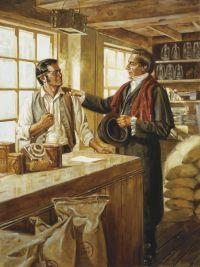 Joseph Smith in Newel K. Whitney Store