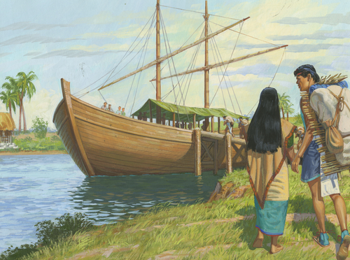 Nephites packing large ship