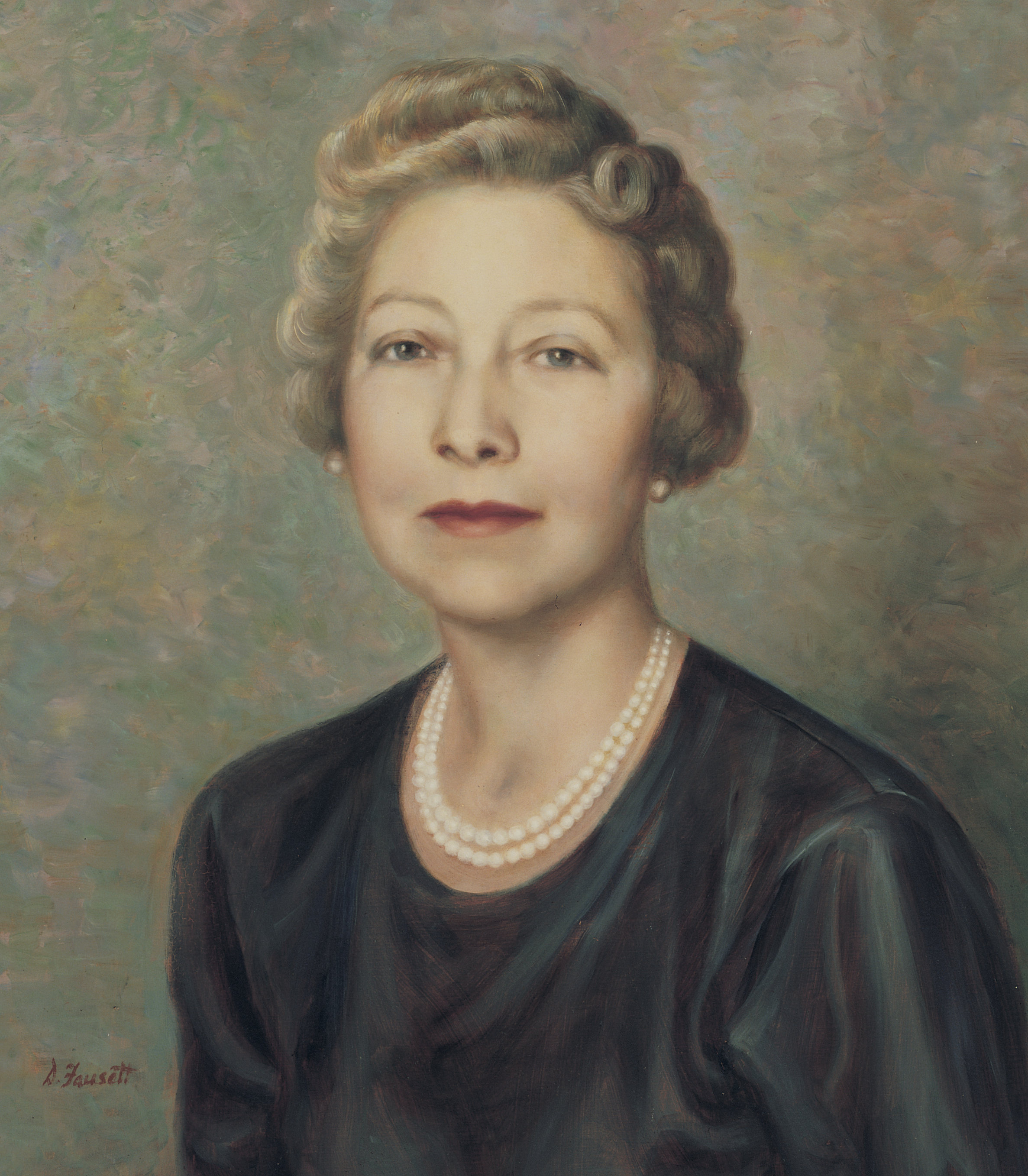 A portrait of Adele Cannon Howells, who was the fourth Primary general president from 1943 to 1951; painted by Dean Fausett.