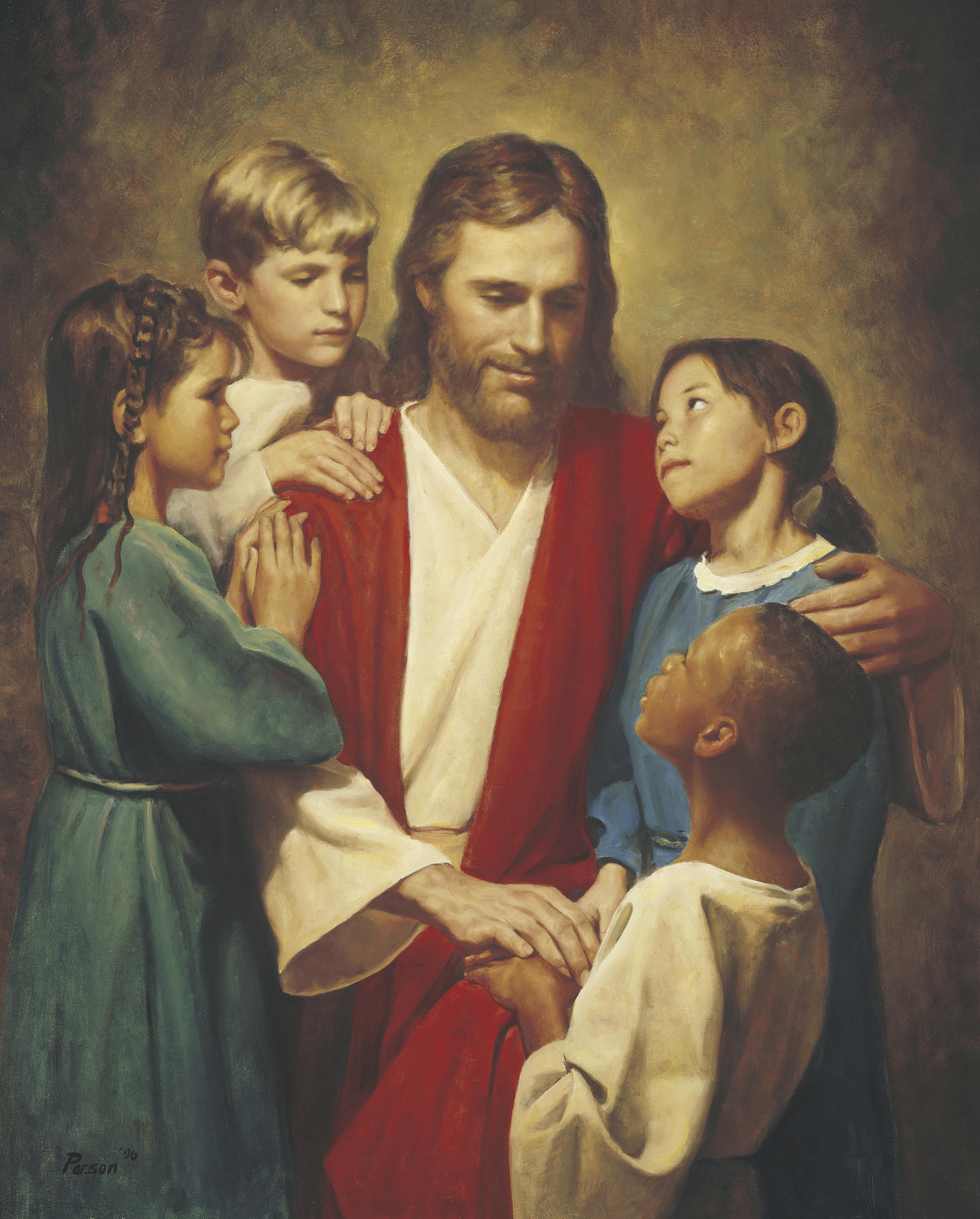 Christ And Children From Around The World Christ With Children