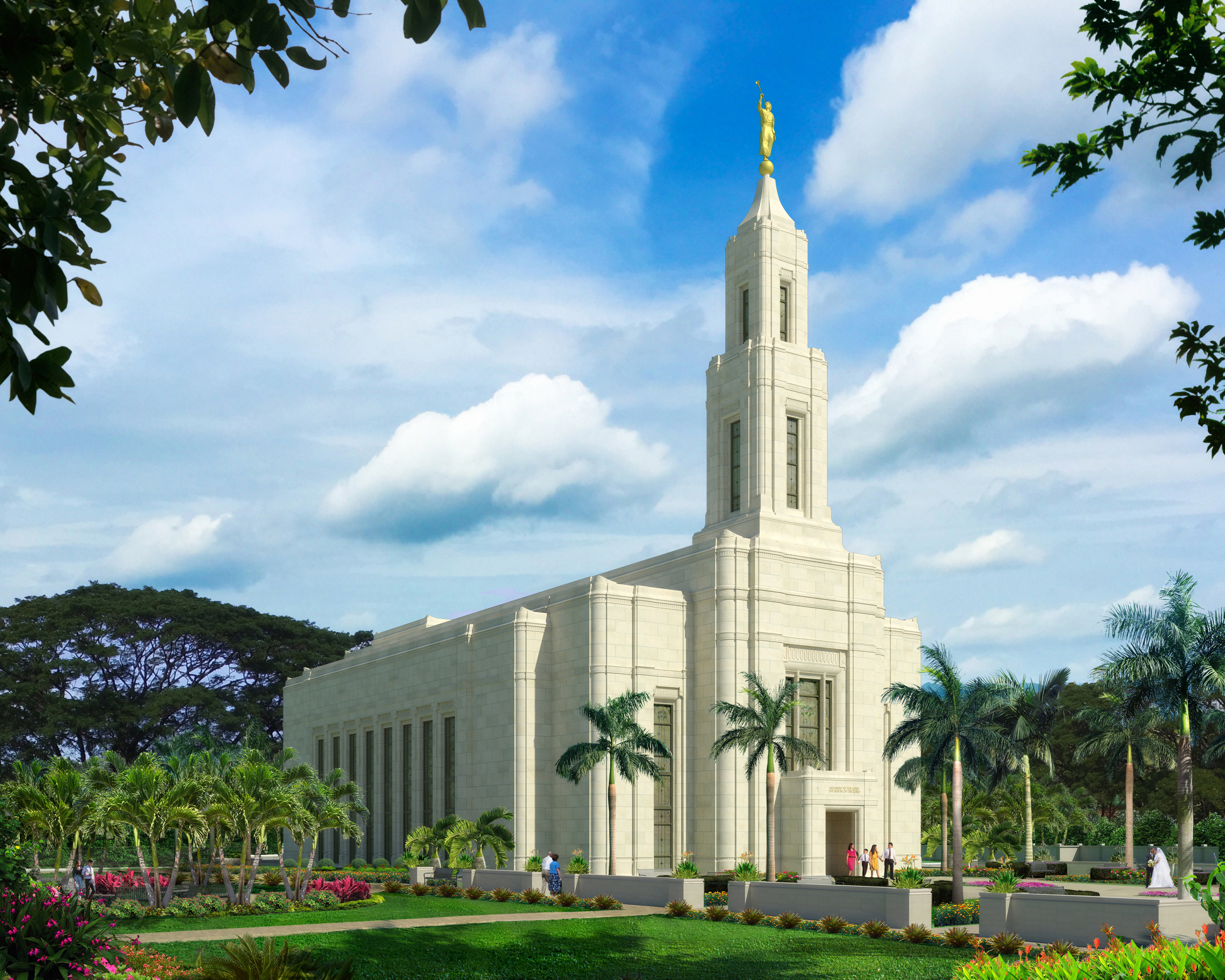 An artist's rendering of the Urdaneta Philippines Temple.