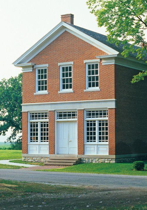 Illinois. Hancock Co. Nauvoo Red brick store