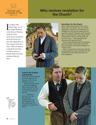Liahona Magazine, 2021/03 March: Who receives revelation for the Church?