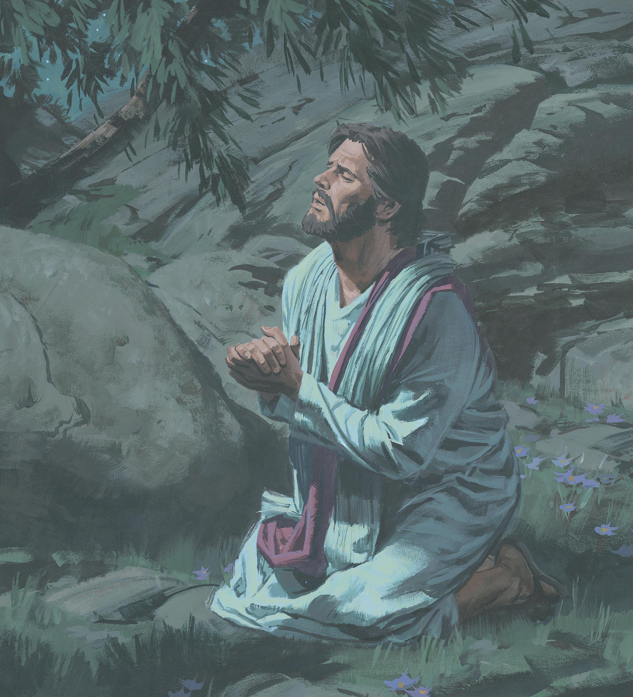 Jesus Suffers in the Garden of Gethsemane, by Paul Mann