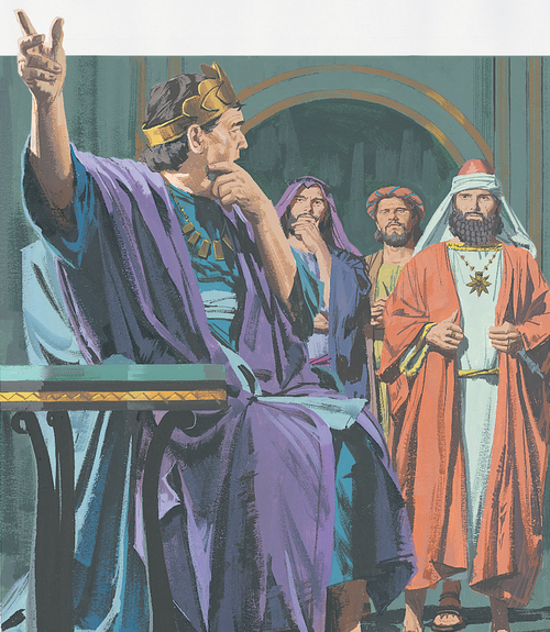 wise men talking to King Herod