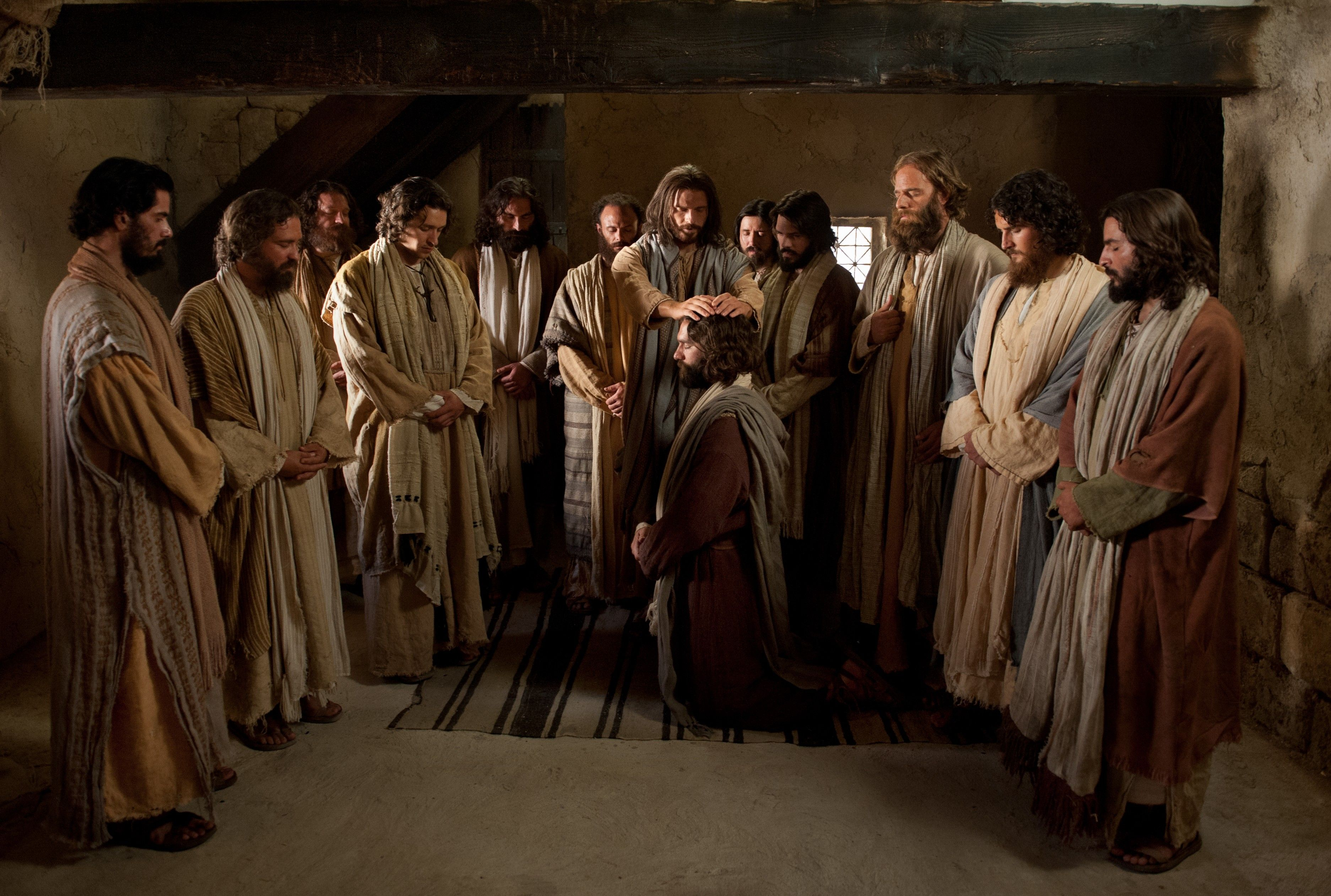Christ ordaining and setting apart His twelve Apostles.