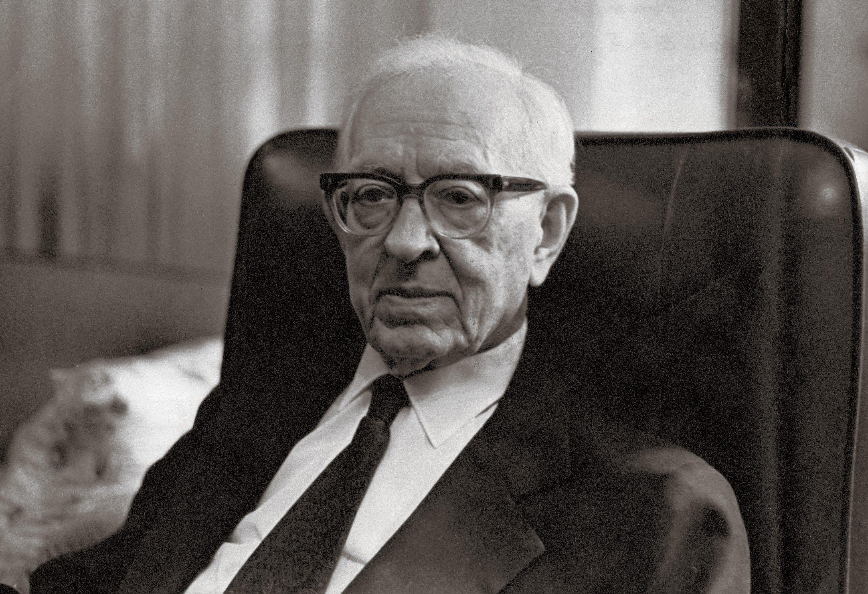 President Joseph Fielding Smith sitting in a black chair. Teachings of Presidents of the Church: Joseph Fielding Smith (2013), iv