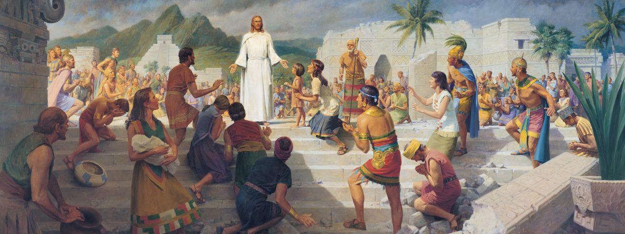 Jesucristo se aparece a los antiguos habitantes de las Américas en el Libro de Mormón