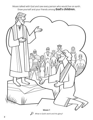 Moses Saw the Earth coloring page