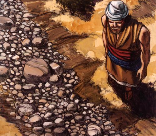Elijah by dried riverbed