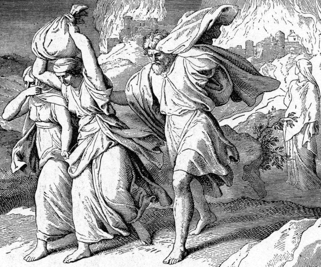 Fleeing Sodom and Gomorrah, by Julius Schnorr von Carolsfeld