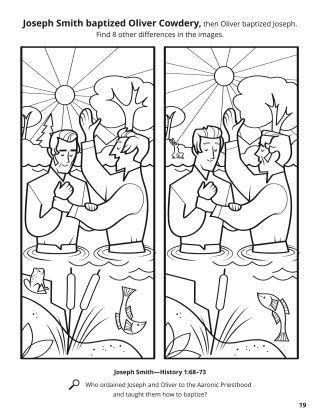 Joseph and Oliver Were Baptized coloring page