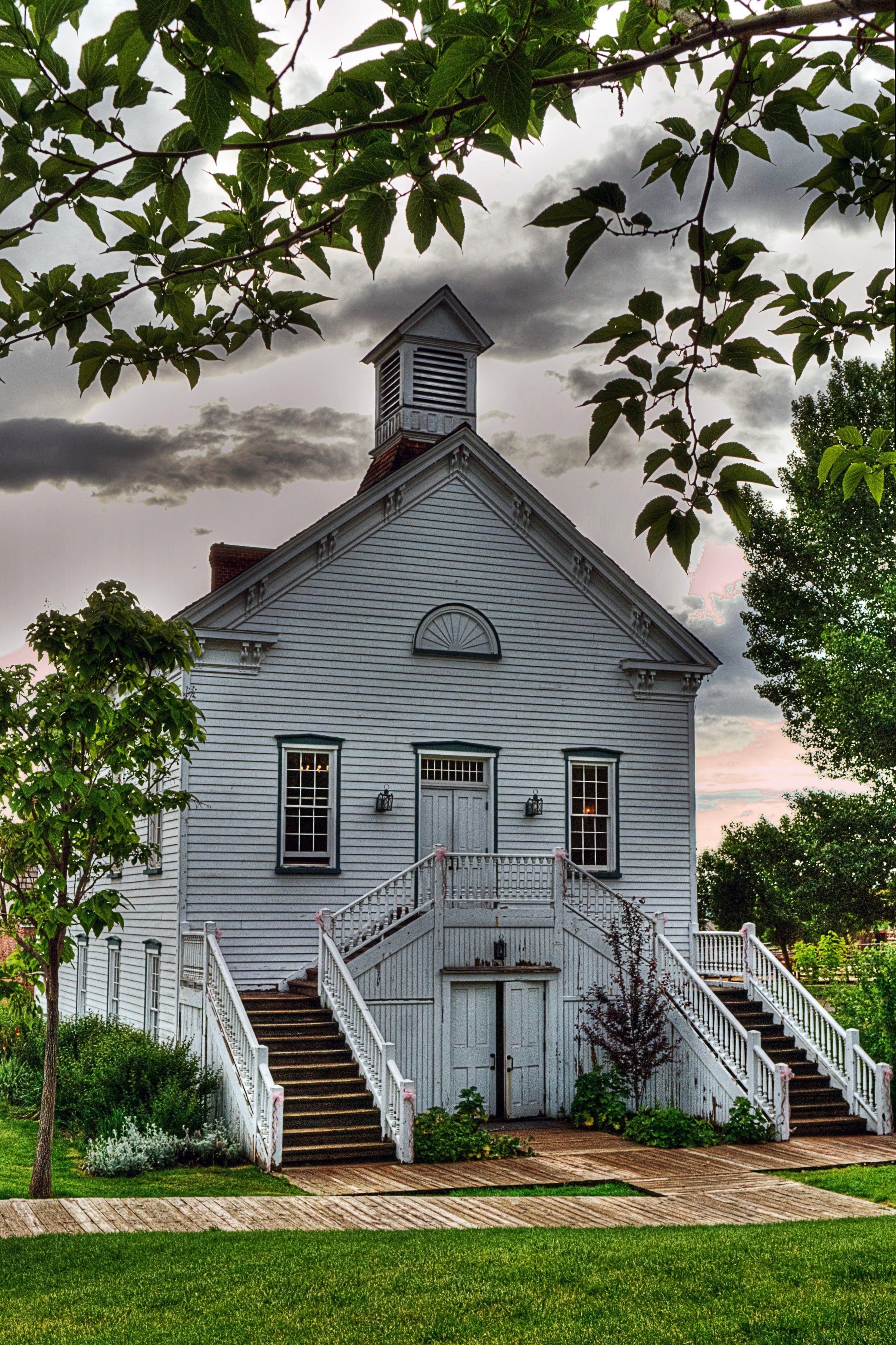 An old wooden chapel in Pine Valley, Utah.
