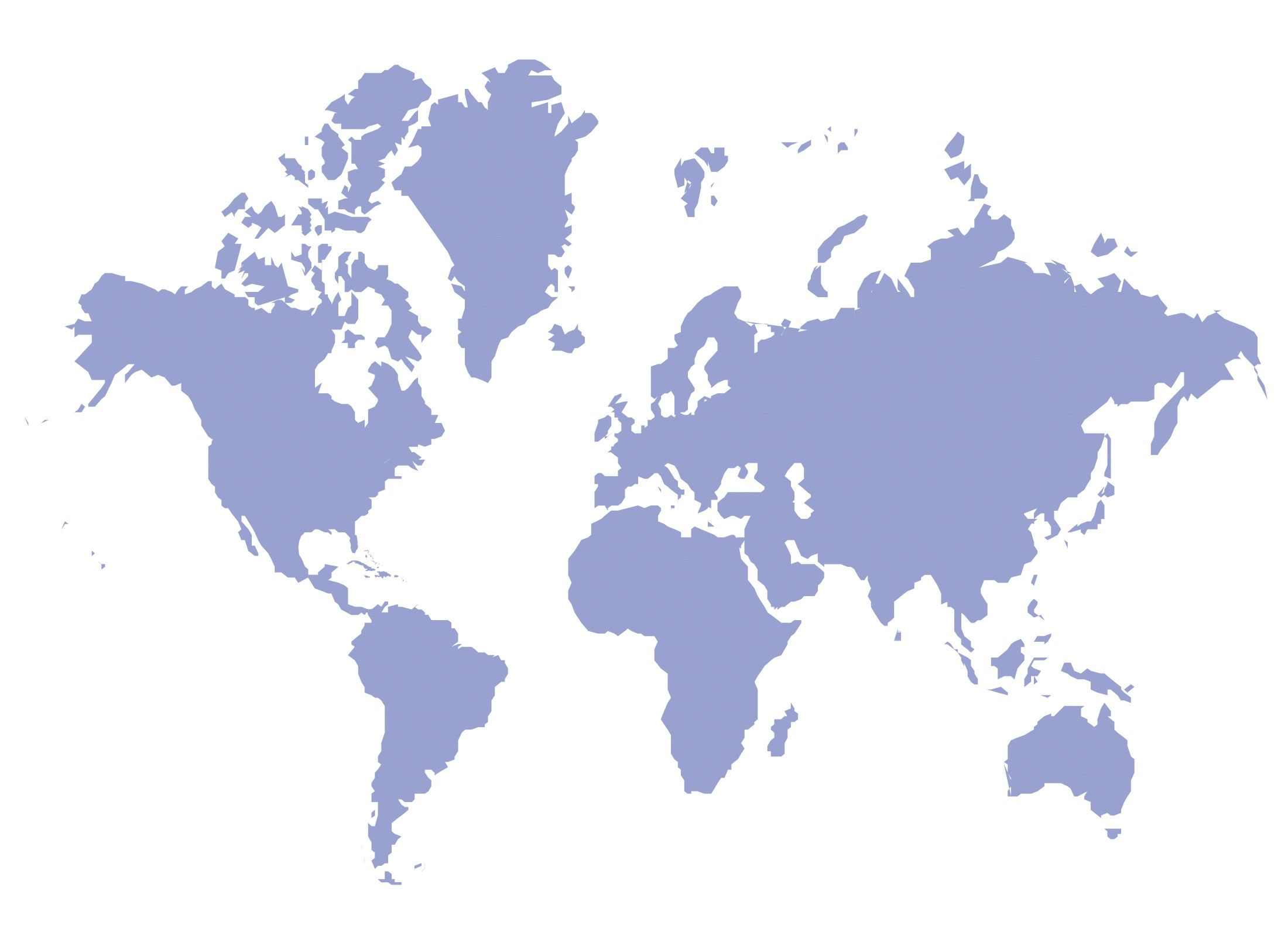 A world map in silhouette.