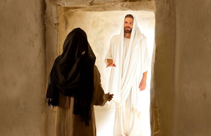 The Resurrected Jesus Christ appears to Mary Magdalene on Easter Sunday