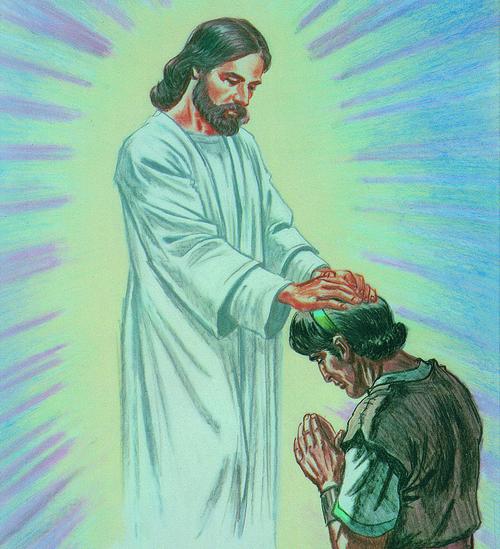 Jesus Christ blessing Jacob