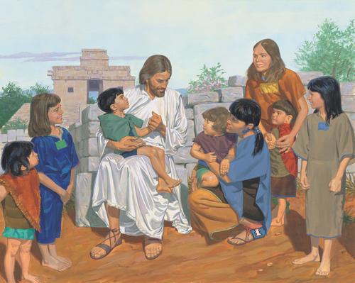 Jesus blessing children