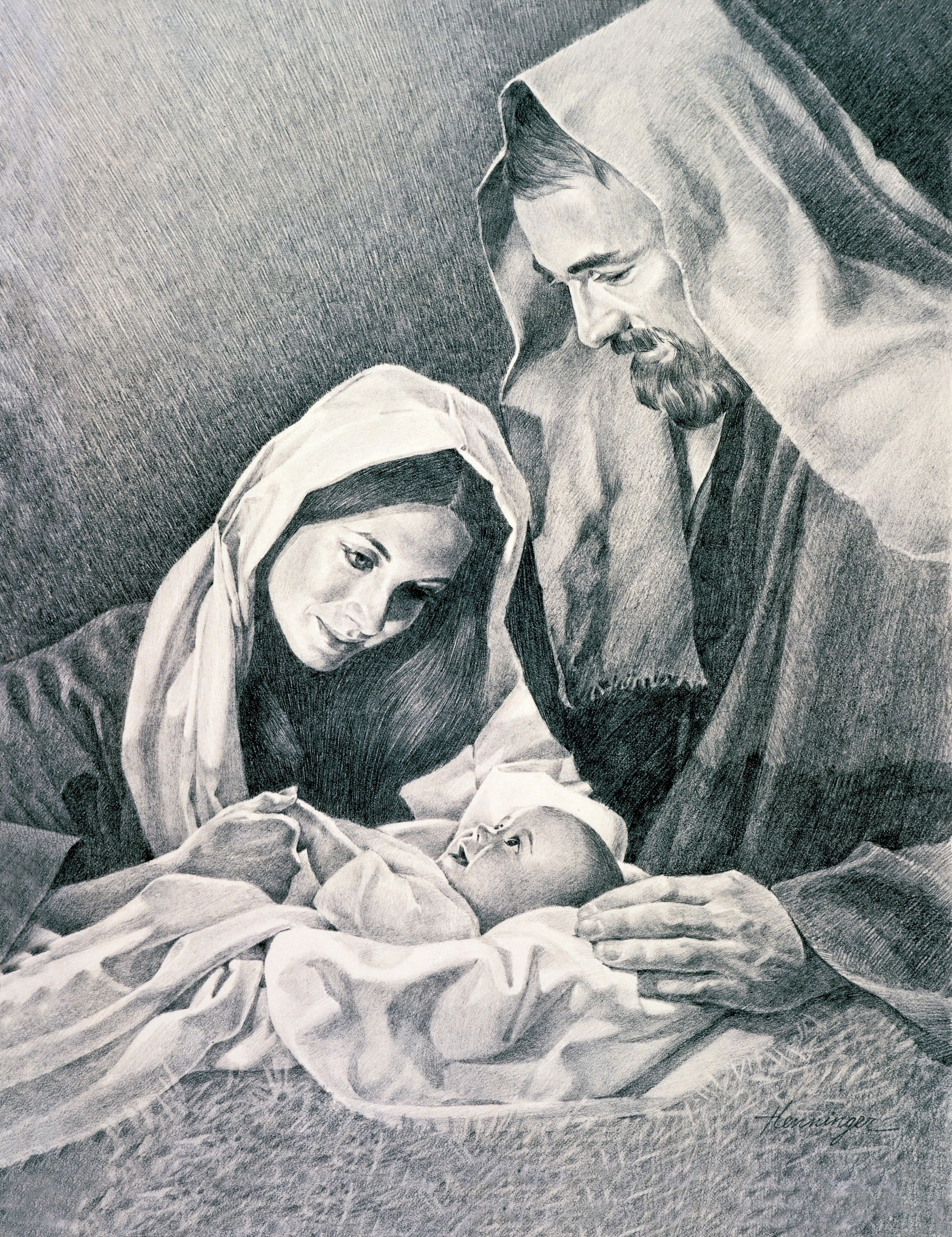 The Nativity, by Ted Henninger (62495); GAK 201; Primary manual 1-16; Primary manual 2-06; Luke 2:7