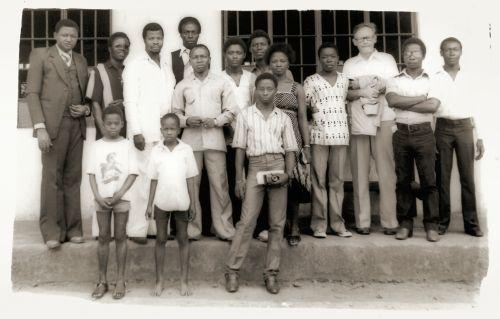 Sierra Leone: Michael Samura with Group