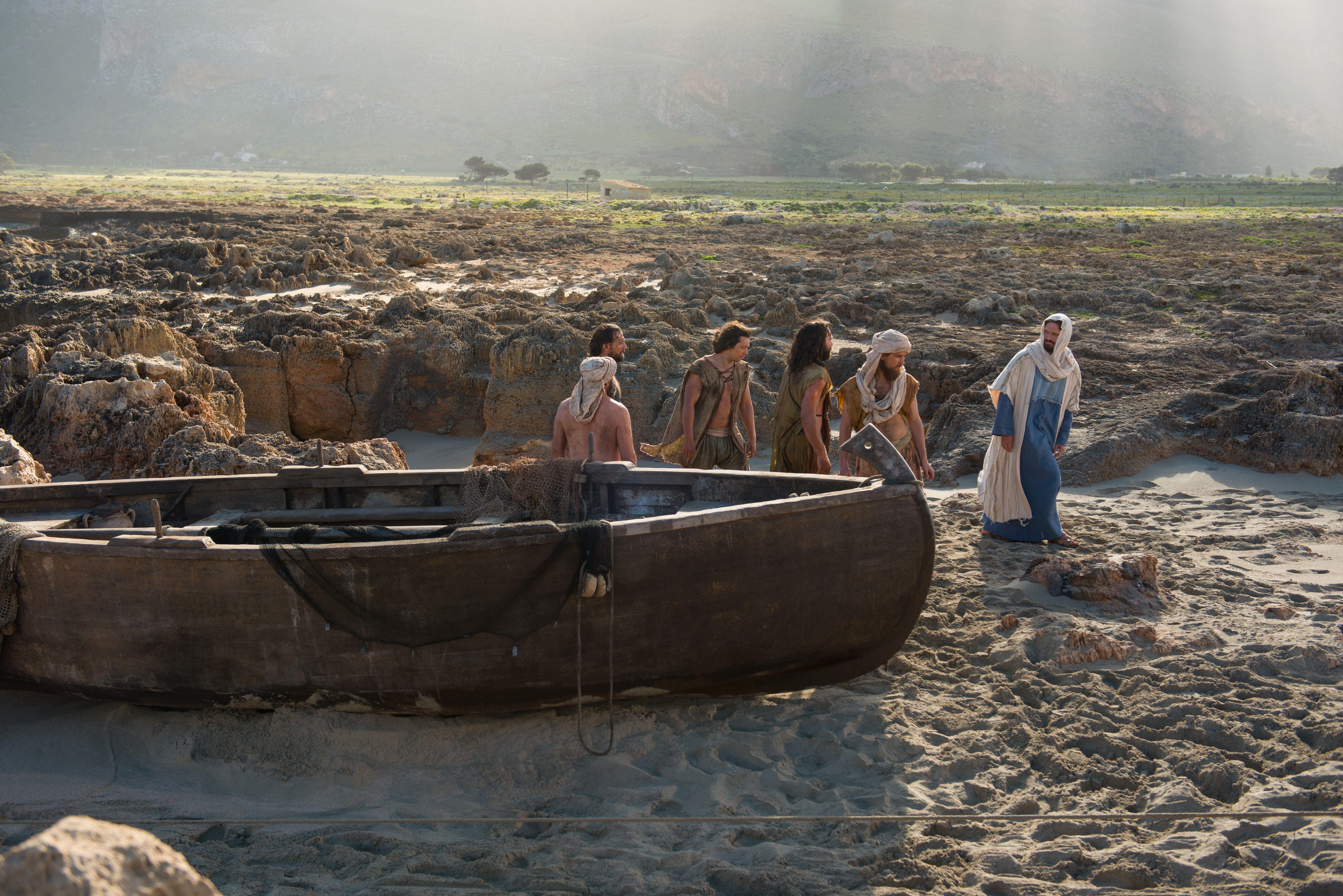 The disciples follow Christ.