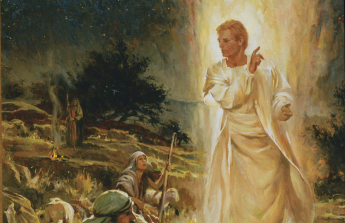 The Angel Appears to the Shepherds
