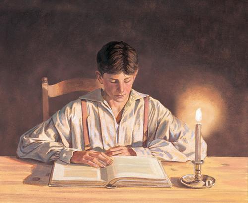 Joseph reading Bible