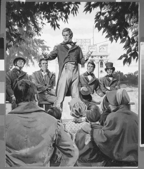 Joseph Smith Preaching in Nauvoo