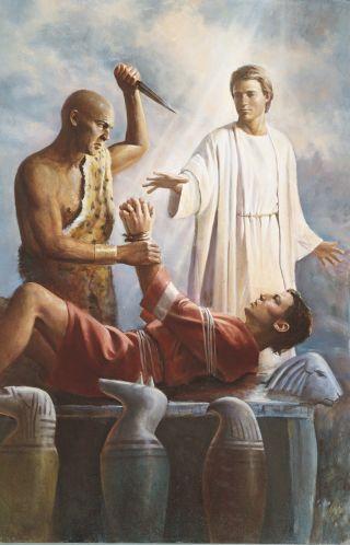 An Angel Saves Abraham