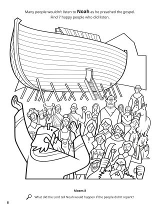 Noah Preached the Gospel coloring page