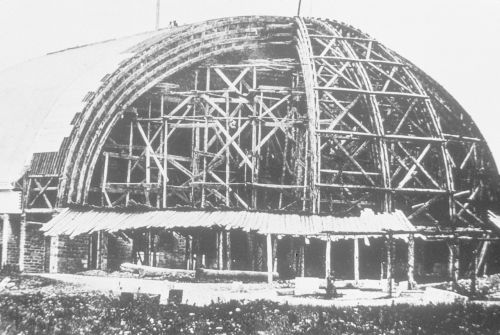 Salt Lake Tabernacle under construction, about 1867