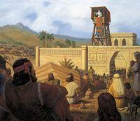 King Benjamin Preaches to the Nephties