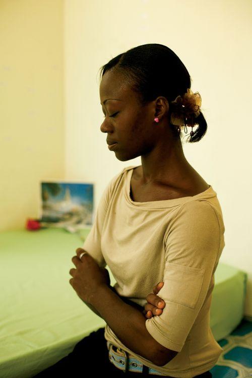 Prayer. Youth. Female