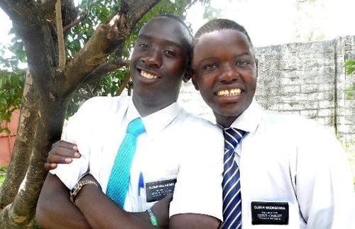 Elders Joshua Walusimbi and Joseph Ssengooba