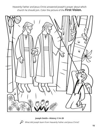 The First Vision coloring page