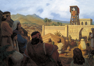 King Benjamin Preaches to the Nephites, by Gary L. Kapp