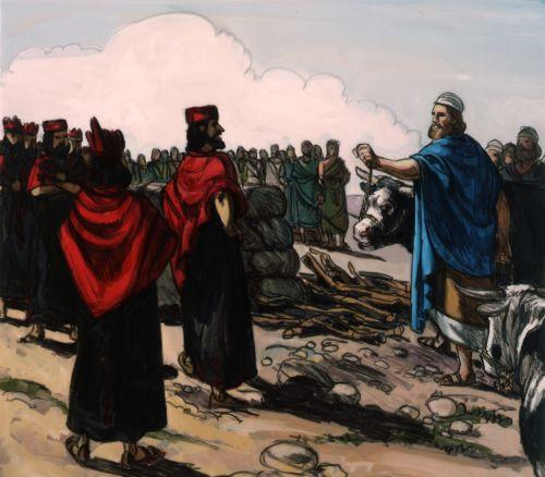 Elijah and priests of Ahab
