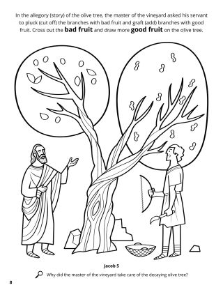 Allegory of the Olive Tree coloring page