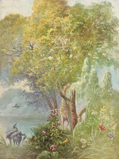 Salt Lake Temple Garden Room Murals (study)