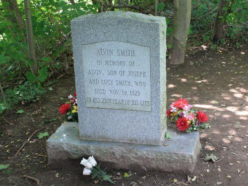 New York. Ontario. Manchester. Alvin Smith grave.