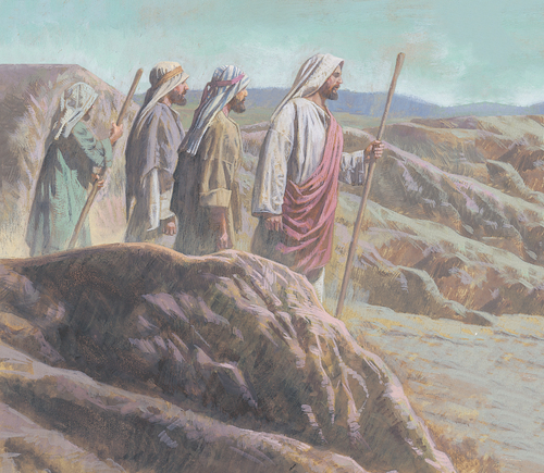 Jesus and disciples traveling