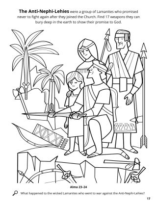 The Anti-Nephi-Lehies Buried Their Weapons coloring page