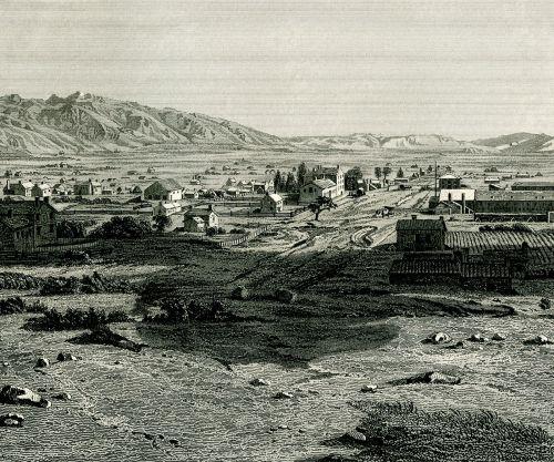 Great Salt Lake City in 1853